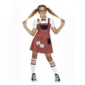 🆕 Kids Ahead of the Class Nerd Costume, XL 14-16